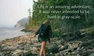 Life is an amazing adventure