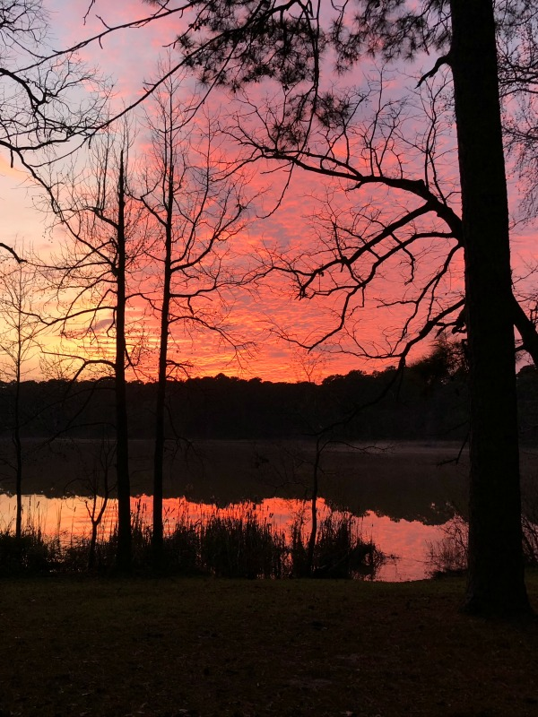 Sunset over Lake Raven