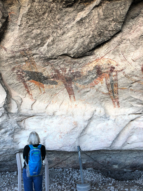 Pictographs in Fate Bell Shelter at Seminole Canyon State Park