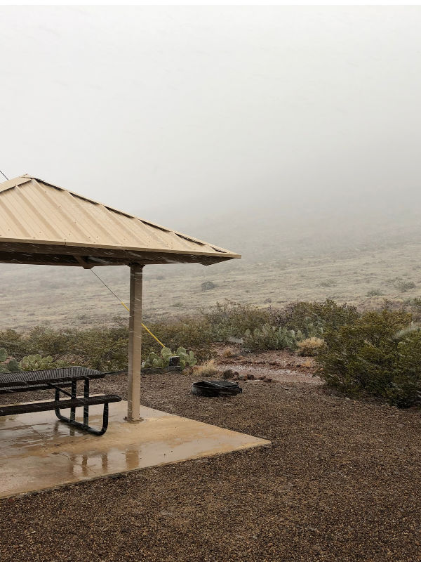 A rainy day at Rockhound State Park, New Mexico.
