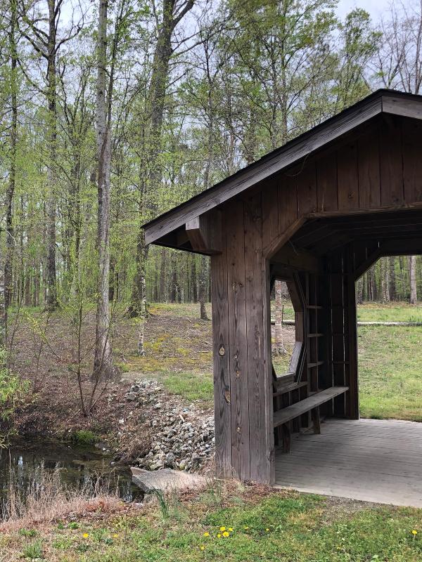 Covered bridge at Cabin Creek Campground in North Carolina.